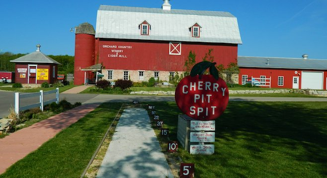 While in Door County, give the cherry-pit spitting world record a try.