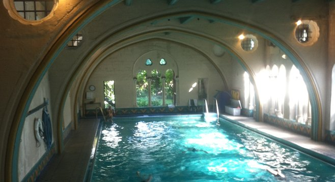 Not your typical hotel pool. One of the architectural highlights of the Berkeley City Club, designed in 1929.