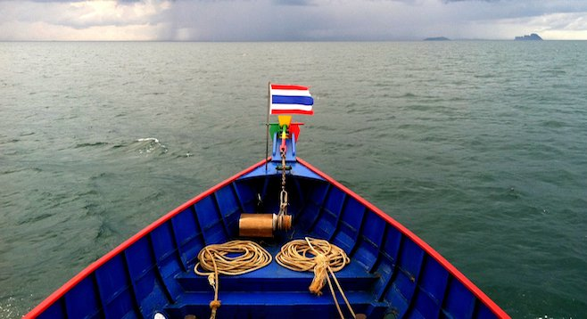 Ferry from Krabi, heading straight for the storm.