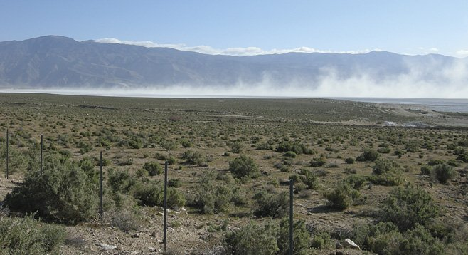 Despite mitigation efforts, dust storms are a frequent problem on the dry bed of Lake Owens, near Death Valley. Some worry a similar fate awaits the Imperial Valley.