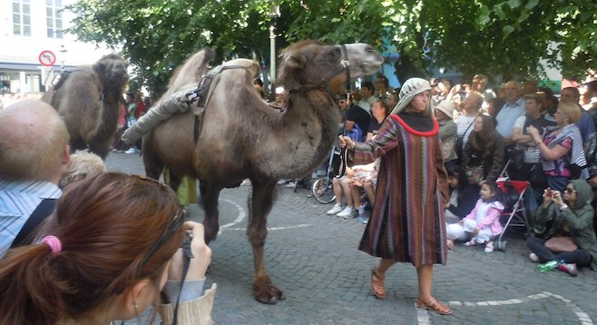 Not, as it turns out, a typical day in Bruges: the Procession of the Holy Blood festival.