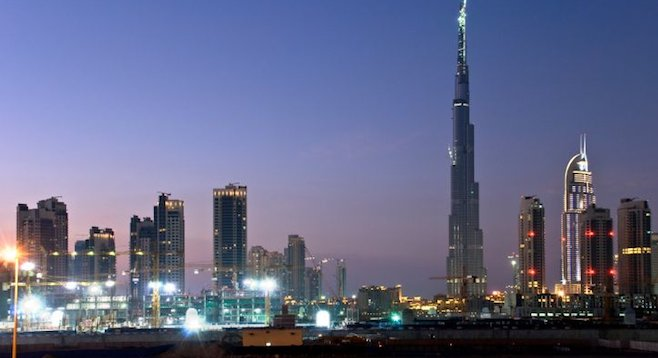 Skyline views of Dubai are dominated by its world's-largest Burj Khalifa tower.