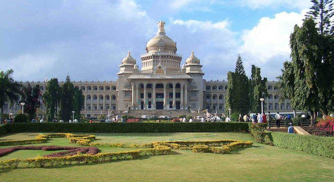 Bangalore's Vidhana Soudha is the largest legislative building in India.