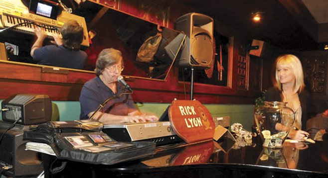 Rick Lyon tickles the faux-ivories at the Imperial House.