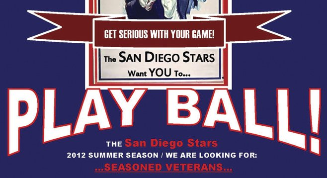 Recruiting poster for independent ballplayers