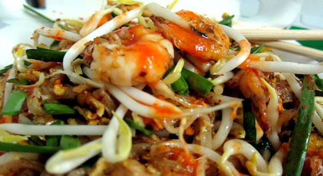 The real thing in Thailand. Count yourself lucky if you find pad thai of this caliber in the U.S.