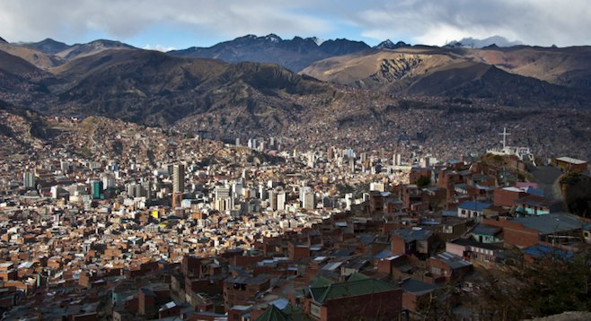 The highest capital in the world, La Paz, Bolivia, sits at roughly 11,975 feet above sea level.