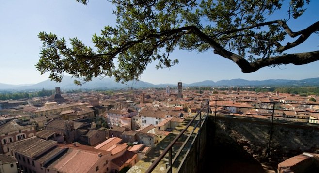 The city of Lucca dates back to 180 B.C. [stock photo]