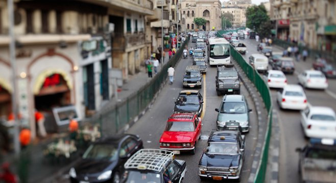 Cairo's anarchy-inducing rush hour might be one aspect of the city still unsafe for travelers. (stock photo)
