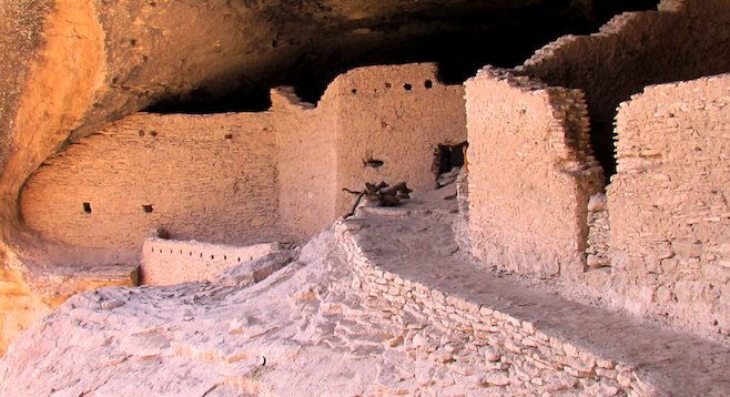 New Mexico's 700-year-old Gila Cliff Dwellings.