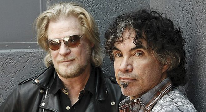 Blue-eyed soul brothers Hall & Oates play Harrah's Rincon this week.