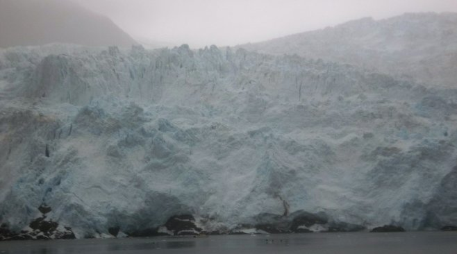 The Kenai's Holgate Glacier is impressive from the deck of a cruise ship – especially when you realize just how small the ship is by comparison.