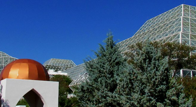 Southern Arizona's Biosphere 2 is three glass-enclosed acres of ocean, mangrove swamp, savannah, rainforest and coastal desert.