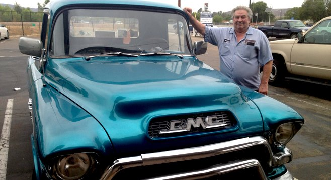 "Eddie Long's 1956 GMC pickup is not what it seems. ""It has all the modern conveniences,"" he boasts."