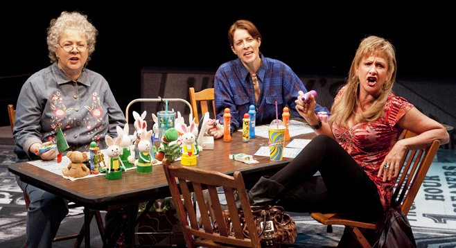 When the Southies gather, the director's stagings are a politically incorrect , internecine hoot.