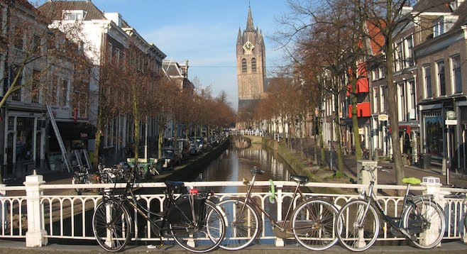 No, not Amsterdam – but still plenty of bikes and canals. The slower pace of Delft is just an hour train ride away.