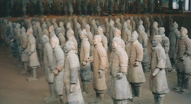 Recent estimates put the number excavated from Emperor Qin's terracotta army at 8,000 soldiers, 130 chariots and 670 horses. Thousands more lie waiting to be uncovered.