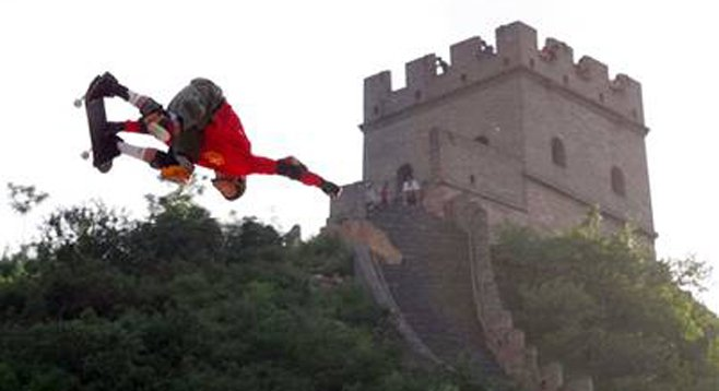 San Diegan Danny Way jumped the Great wall of China — on a skateboard.