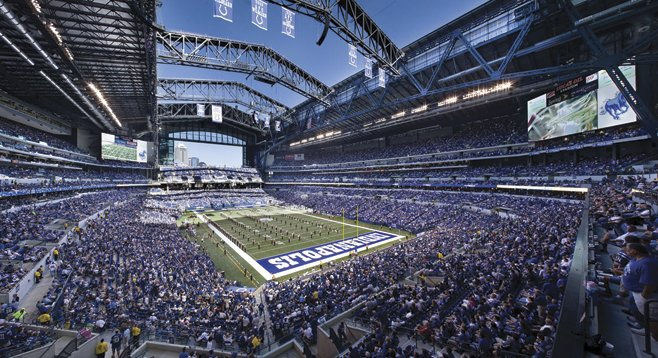 Indianapolis city officials promised taxpayers a Super Bowl if they would just pony up for Lucas Oil Stadium. They got the Super Bowl…and lost money on it.