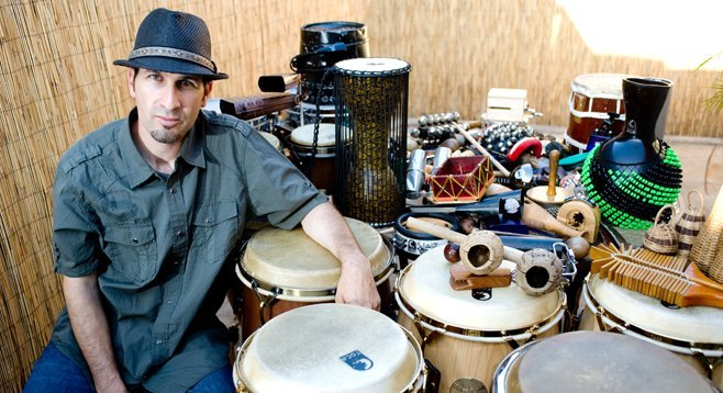 Percussionist Steve Haney once tried to skate down Fletcher Parkway. He's got scars to prove it.