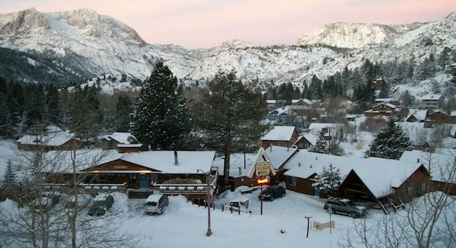A white Christmas is a definite possibility in the Eastern Sierras' June Lake, elevation 7,621.