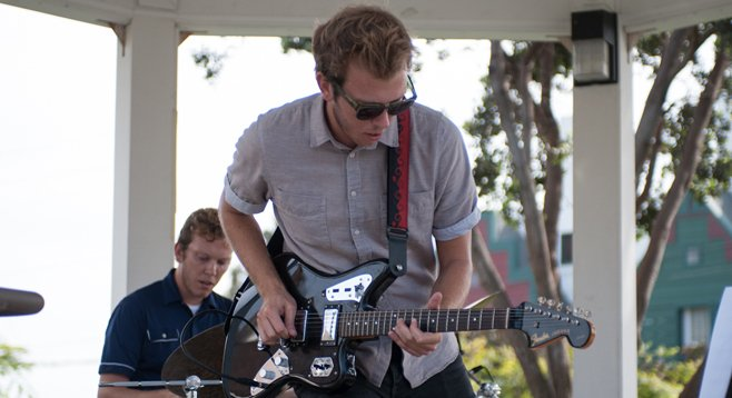 Surf-jazz duo Mattson 2 hit the beach at this year's Carlsbad Music Festival.