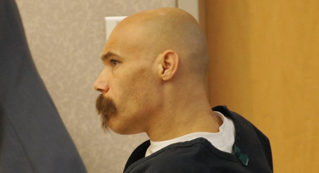 Christopher Selena, in court, stands accused of killing Arellano.