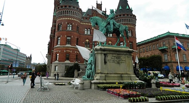 Helsingborg Castle overlooks the city's harbor, the site of permanent settlement since the 11th century.