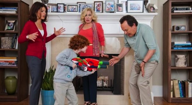 In Parental Guidance, Billy Crystal — the self-appointed spokesman for American comedy — is reduced to vomiting on a child for laughs.