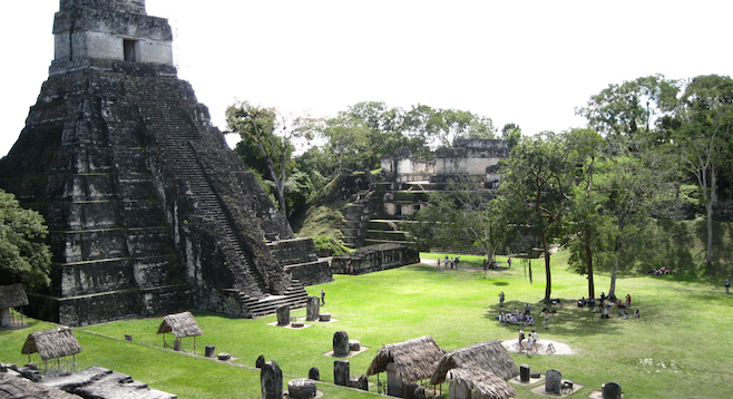 The Mayan ruins of Tikal, a UNESCO World Heritage Site.