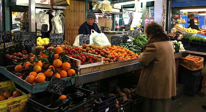 "Get a glimpse of ""real"" Rome sans tourist crowds in Testaccio's food market."