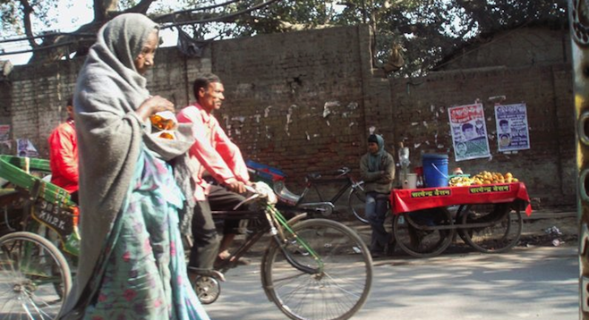 An afternoon walk in Delhi, India's capital and second-largest city.