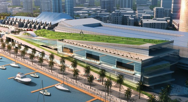 Even in this concept photo, the proposed convention center expansion looks like a terrible idea.