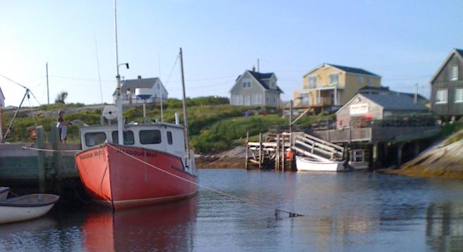 Remote, postcard-perfect fishing village in the province of Nova Scotia.