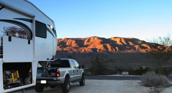 Camping in Anza-Borrego Desert, just two hours east of San Diego. The great outdoors is waiting... go find it!