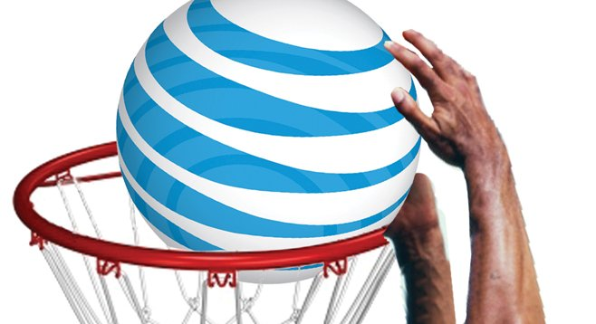 Staff of Juan Vargas dunked a few free pro-basketball tickets, courtesy of AT&T.