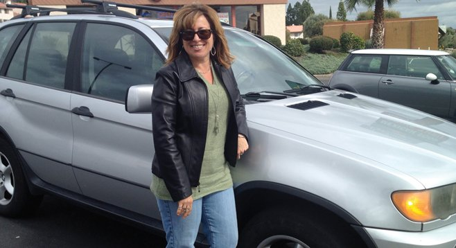 "Maria Hart's BMW X5 ""is not as comfortable as my Explorer.""  And she hates driving downtown."