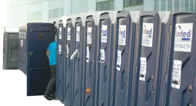 Portable toilets became an issue after the port's power-plant implosion.
