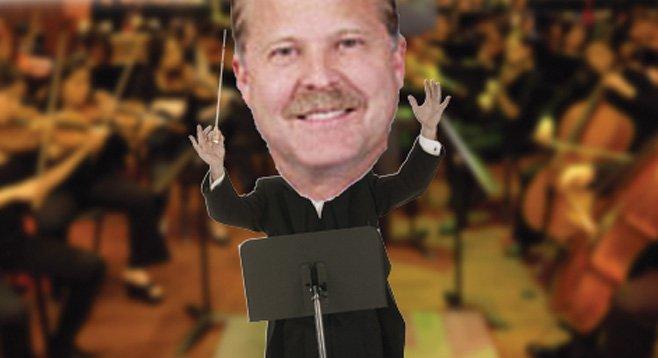 Richard Ledford lobbies the city on behalf of the San Diego Symphony.