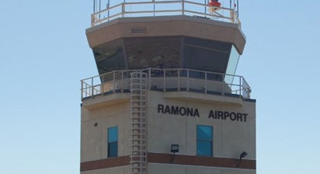 Ramona Airport air traffic control tower