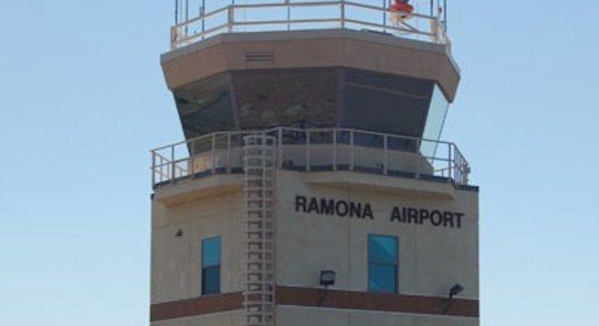 Ramona Airport air traffic control tower