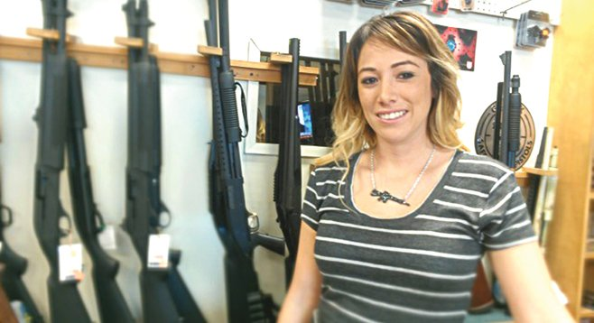 """Glock has been around, I think, for 20 years, and this is the first time they've ever been back-ordered. Ever."" — Krystal Westcott, a sales associate at California Police Equipment in City Heights"