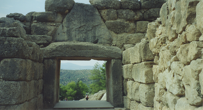 Ancient Mycenae, Greece: a window to the past.