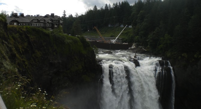 Salish Lodge overlooking the falls.