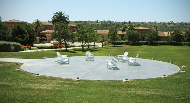 From helicopters to Adirondack chairs. The city and the state shut down Grand Del Mar's non-permitted use of this landing pad.