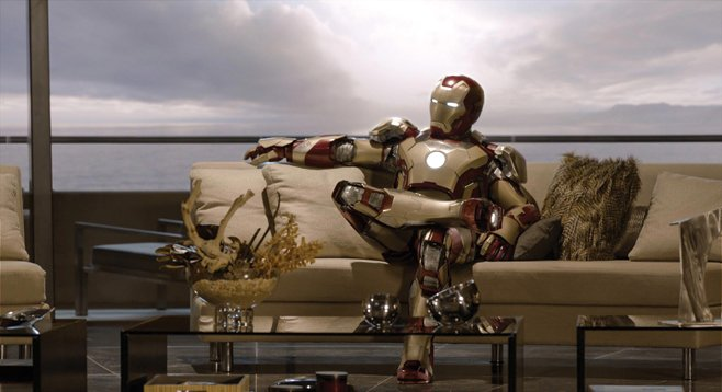 "Iron Man 3: ""Yeah, the old couch clashed with the suit."""