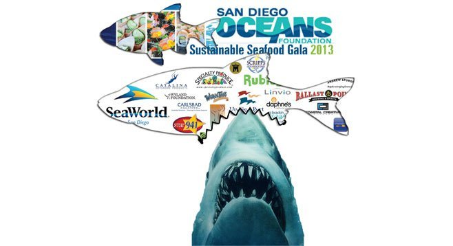 "Noted our caption: ""The San Diego Oceans Foundation fed some free gala tickets to the sharks at the Port of San Diego."""