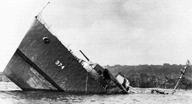 The U.S. Navy destroyer USS Tucker (DD-374) sank at Bruat channel on August 5, 1942.