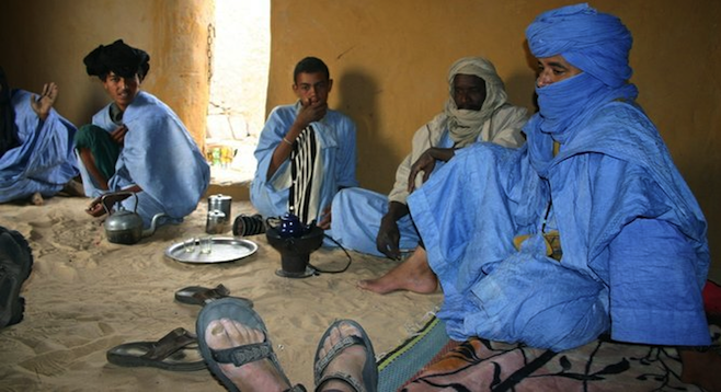 Hanging with the Blue Men (Tuareg people) of Mali, West Africa.
