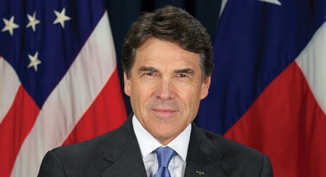 Governor Rick Perry wants to lure San Diego companies to Texas.